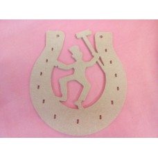 4mm MDF Horse shoe with sweep